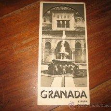 Folletos de turismo: GRANADA . Lote 13782738