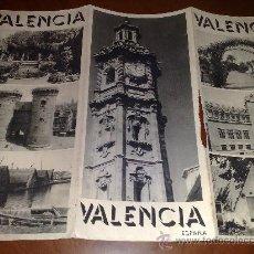 Folletos de turismo: FOLLETO TURISMO VALENCIA. Lote 11195877
