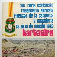 Folletos de turismo: BARBASTRO / FEMARC / PROGRAMA DE LA FERIA / AÑO 1975 // HUESCA // ARAGON. Lote 27113685