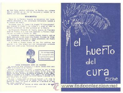 EL HUERTO DEL CURA (ELCHE) .. JARDÍN ARTÍSTICO NACIONAL (Coleccionismo - Folletos de Turismo)