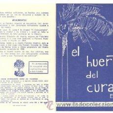 Folletos de turismo: EL HUERTO DEL CURA (ELCHE) .. JARDÍN ARTÍSTICO NACIONAL. Lote 11427659