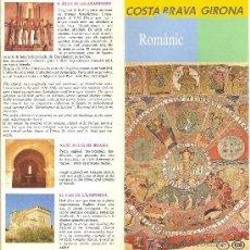 Folletos de turismo: COSTA BRAVA GIRONA. ROMÀNIC. CATALUNYA. MEDIEVAL.. Lote 11835107