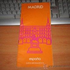 Folletos de turismo: MADRID DATOS INFORMATIVOS 1974. Lote 12085771
