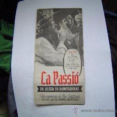 Folletos de turismo: FOLLETO DE LA PASSIÓ DE OLESA DE MONTSERRAT 1954.. Lote 12661441