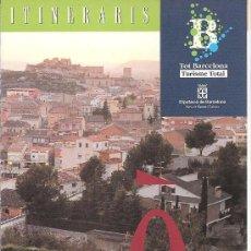 Folletos de turismo: ÒDENA. ITINERARIS. CATALUNYA. EXCURSIONISMO.. Lote 12869283