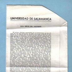Folletos de turismo: FOLLETO UNIVERSIDAD DE SALAMANCA. Lote 12924946