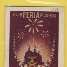 Folletos de turismo: PROGRAMA- FERIA DE JULIO 1950-VALENCIA -LIIBRITO.120X 80 MM.. Lote 12949441