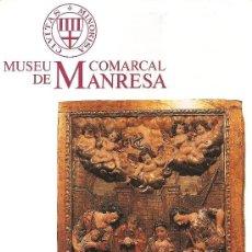 Folletos de turismo: MUSEU COMARCAL DE MANRESA. CATALUNYA.. Lote 13150046