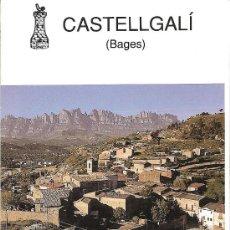 Folletos de turismo: CASTELLGALÍ. MUSEU. CATALUNYA.. Lote 13150685