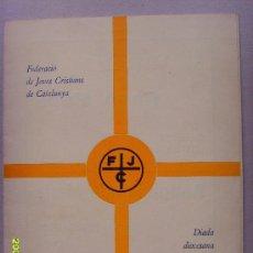 Folletos de turismo: DIADA DIOCESANA D´ESTUDIS/ FEJOCISTES D´IGUALADA, IGUALADA 7 MAIG 1933. Lote 23685339
