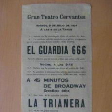 Folletos de turismo: PROGRAMA TEATRO TIPO FOLLETO. GRAN TEATRO CERVANTES . 1924. . Lote 13527591