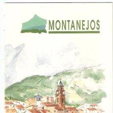 Folletos de turismo: MONTANEJOS. DESPLEGABLE, CON MAPA TURISTICO. Lote 14440190