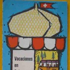 Folletos de turismo: VACACIONES EN SUIZA EN FERROCARRIL Y AUTOMÓVILES DE CORREOS. 1958. Lote 14139495