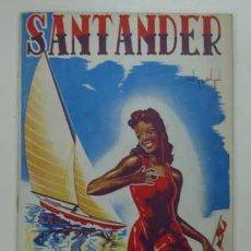 Folletos de turismo: SANTANDER. VERANO 1946. PROGRAMA DE FIESTAS. TURISMO. . Lote 14215642