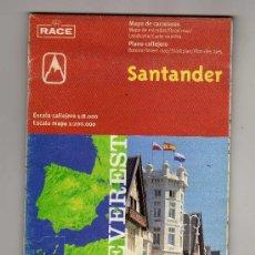 Folletos de turismo: PLANO CALLEJERO Y MAPA DE CARRETERAS DE SANTANDER. Lote 30048217