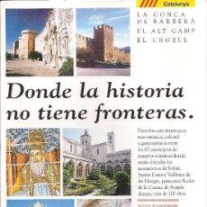 Folletos de turismo: LA RUTA DEL CISTER. MEDIEVAL.. Lote 19089039