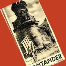 Folletos de turismo: TRIPTICO SANTANDER 1940. PRIMEROS FOLLETOS TURISTICOS DICTADURA. PUBLICIDAD ENVIO 1 €.P. Lote 27060702