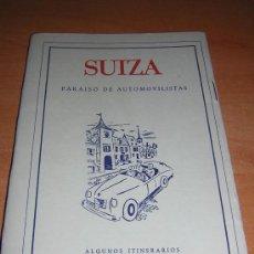 Folletos de turismo: FOLLETO DE TURISMO DE SUIZA (MAPA DE CARRETERAS Y CURIOSIDADES). Lote 17513631