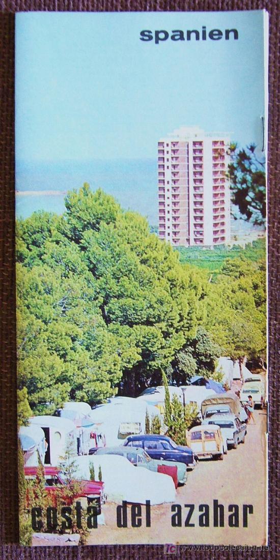 VR143.- FOLLETO TURISTICO COSTA DEL AZAHAR AÑOS 60-70 (Coleccionismo - Folletos de Turismo)