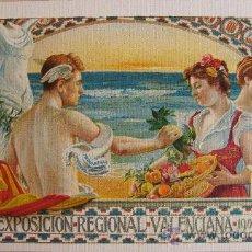 Folletos de turismo: PUBLICIDAD EXPOSICION REGIONAL VALENCIANA 1909. Lote 26366576