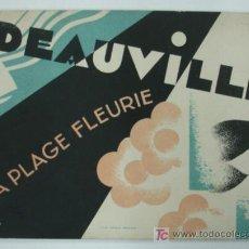 Folletos de turismo: DEAUVILLE. LA PLAGE FLEURIE. 1932. ILUSTRADO CON MUCHAS FOTOGRAFÍAS. . Lote 17583519