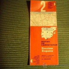 Folletos de turismo: MAPA DE CARRETERRAS FIRESTONE HISPANIA Nº2. Lote 18005789