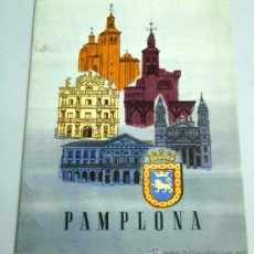 Folletos de turismo: PAMPLONA FOLLETO TURISMO CON MAPA DESPLEGABLE. Lote 18332338