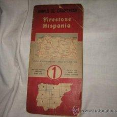 Folletos de turismo: FIRESTONE HISPANIA MAPA DE CARRETERAS Nº 1960. Lote 18351573
