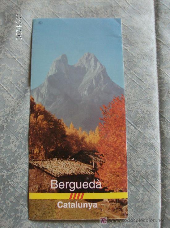 FOLLETO INFORMATIVO BERGUEDÀ (Coleccionismo - Folletos de Turismo)