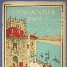 Foglietti di turismo: SANTANDER. ISSUED BY INTERNATIONAL T. AND TELEGRAPH COR. BUREAU OF INFORMATION PRO - ESPAÑA, S/F.. Lote 18973169