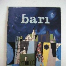 Folletos de turismo: FOLLETO TURISTICO ITALIANO: BARI, CON MAPA DESPLEGABLE, 1958 (EN FRANCES). Lote 162684488