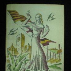 Folletos de turismo: IGUALADA. FOLLETO. CIUTAT D' IGUALADA. FESTA MAJOR 1935. CUBIERTA DE FABREGAS.. Lote 18995406