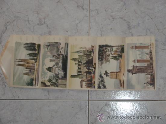 Desplegable antiguo con 5 dibujos de barcelona comprar for Oficina de turismo barcelona