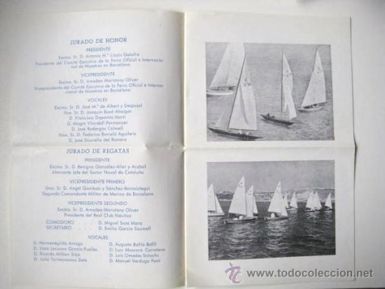 Folletos de turismo: REAL CLUB NAUTICO DE BARCELONA. REGATAS AÑO 1950. ENVIO GRATIS¡¡¡ - Foto 2 - 19239721