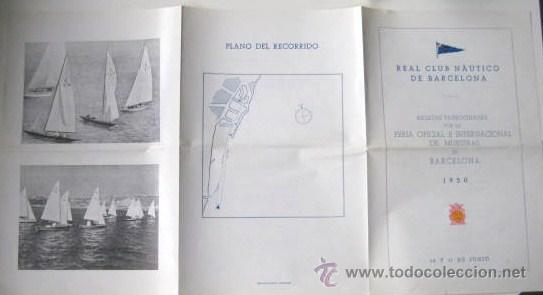 Folletos de turismo: REAL CLUB NAUTICO DE BARCELONA. REGATAS AÑO 1950. ENVIO GRATIS¡¡¡ - Foto 4 - 19239721
