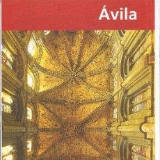 Folletos de turismo: AVILA. LA ARQUITECTURA DE LA CATEDRAL. CASTILLA Y LEON. Lote 19297620