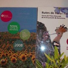 Folletos de turismo: 2 FOLLETOS RUTES DE FLORA I FAUNA; TURISME A PROP DE BCN. EN CATALAN. Lote 26010234