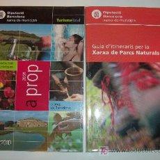 Folletos de turismo: 2 FOLLETOS DE TURISMO DE LA DIPUTACIÓN DE BARCELONA 2005 EN CATALÁN. Lote 26010235