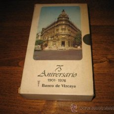 Folletos de turismo: 75 ANIVERSARIO 1901-1976 BANCO DE VIZCAYA CON PLANO Y GUIA DE BARCELONA Y BILBAO. Lote 26895475