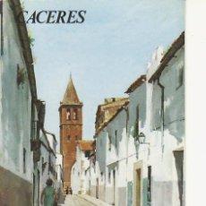Folletos de turismo: CACERES.COLECCION ESPAÑA MONUMENTAL.TRIPTICO CON FICHA DEL PARADOR. MAS EN RASTRILLOPORTOBELLO. Lote 26419670