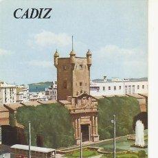 Folletos de turismo: CADIZ.COLECCION ESPAÑA MONUMENTAL.TRIPTICO CON FICHA DEL PARADOR. MAS EN RASTRILLOPORTOBELLO. Lote 19595402