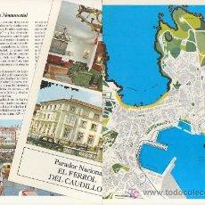 Folletos de turismo: LA CORUÑA.COLECCION ESPAÑA MONUMENTAL.TRIPTICO CON FICHA DEL PARADOR. MAS EN RASTRILLOPORTOBELLO. Lote 24587101