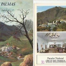 Folletos de turismo: LAS PALMAS.COLECCION ESPAÑA MONUMENTAL.TRIPTICO CON FICHA DEL PARADOR- MAS EN RASTRILLOPORTOBELLO. Lote 19595645