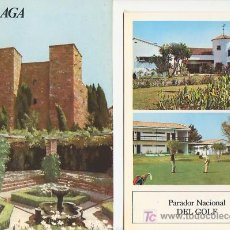 Folletos de turismo: MALAGA.COLECCION ESPAÑA MONUMENTAL.TRIPTICO CON FICHA DEL PARADOR - MAS EN RASTRILLOPORTOBELLO. Lote 26876955