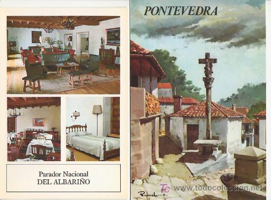 PONTEVEDRA.COLECCION ESPAÑA MONUMENTAL.TRIPTICO CON FICHA DEL PARADOR - MAS EN RASTRILLOPORTOBELLO (Coleccionismo - Folletos de Turismo)