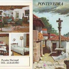 Folletos de turismo: PONTEVEDRA.COLECCION ESPAÑA MONUMENTAL.TRIPTICO CON FICHA DEL PARADOR - MAS EN RASTRILLOPORTOBELLO. Lote 25088288