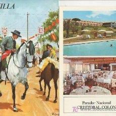 Folletos de turismo: SEVILLA.COLECCION ESPAÑA MONUMENTAL.TRIPTICO CON FICHA DEL PARADOR -MAS EN RASTRILLOPORTOBELLO. Lote 23806570