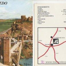 Folletos de turismo: TOLEDO.COLECCION ESPAÑA MONUMENTAL.TRIPTICO CON FICHA DEL PARADOR -MAS EN RASTRILLOPORTOBELLO. Lote 25759472