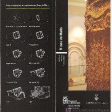 Folletos de turismo: MALLA. MUSEU DE MALLA. OSONA. CATALUNYA. Lote 19711229