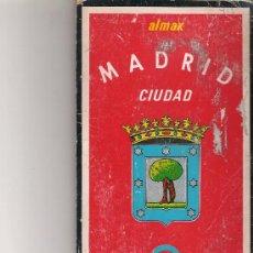 Folletos de turismo: MADRID CIUDAD - PLANO CUIA CALLEJERO - DESPLEGABLE - ALMAX. Lote 19765796